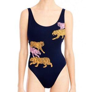 J.Crew Navy Tiger Swimsuit  *NEW*